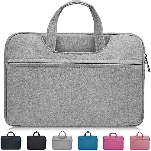 "13-13.3 Inch Waterproof Laptop Sleeve Case Compatible Acer Chromebook R 13,12.5"" ASUS Chromebook Flip C302CA,ASUS ZenBook 13,Dell XPS 13/Inspiron 13,HP Stream 13.3"",LG ASUS Samsung Notebook Bag,Gray"