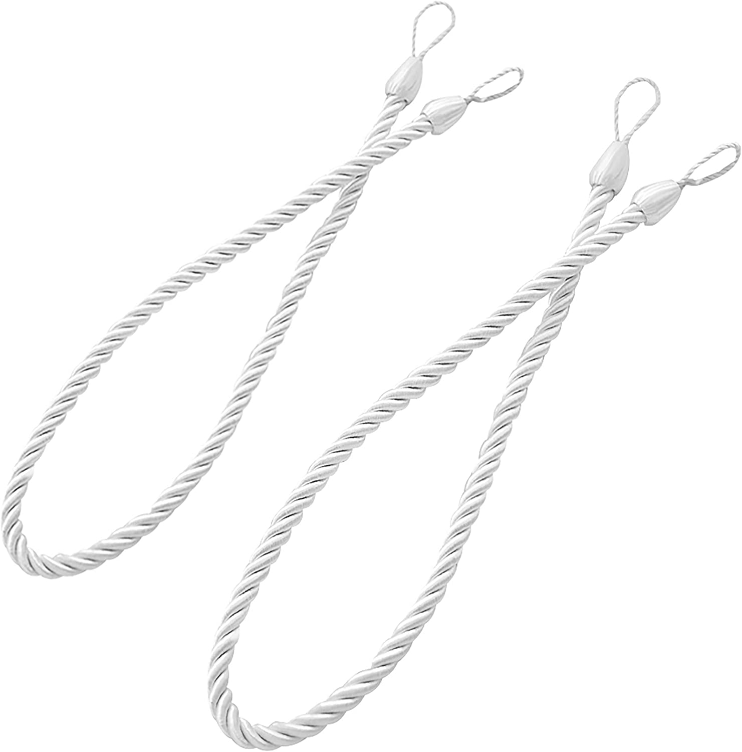 Ropes Holdbacks For Curtain Drapes Natural Thick Ropes Tiebacks With Buckle Cord For Indoor Outdoor Use With Hook Or Directly For Window Treatment Panels Set Of 2 Silver