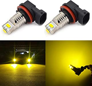 CALAIS H11 LED Fog Light Bulbs,H8 LED Bulb,H8 H16 H11 Fog Lights Lamp Replacement - CSP Chips 2400 Lumens 3000K Yellow Extremely Super Bright
