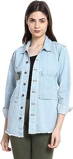 KOTTY Women's Oversized Denim Jacket