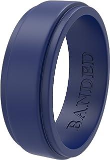 BANDED GLORY سيليكون خاتم زفاف للرجال ، سيليكون خاتم مطاطي خواتم الزفاف