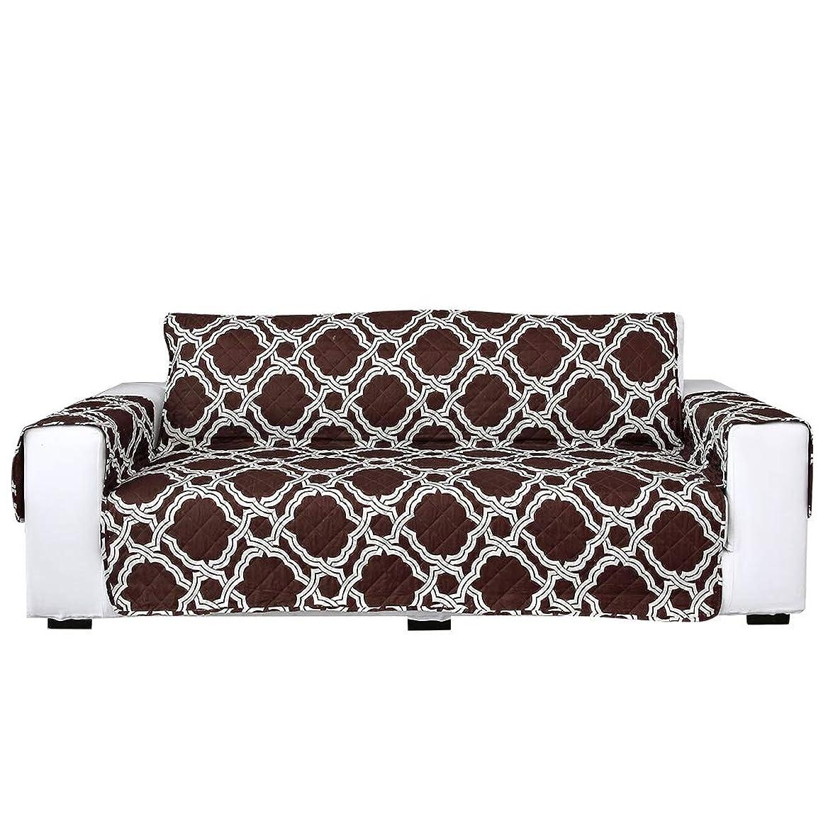 食欲解放するボックスソファのための両面弾性防塵スリップカバーソファカバー家具プロテクタークッション(#2)