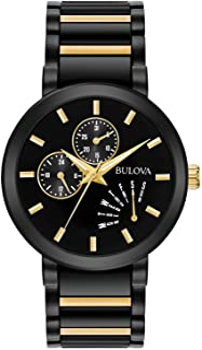 Men's Analog-Quartz Watch with Stainless-Steel Strap, Multi (Model: 98C124)