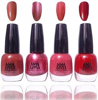 Makeup Mania Premium Nail Polish Exclusive Nail Paint Combo (Brown, Red, Pink, Mauve, Pack of 4)
