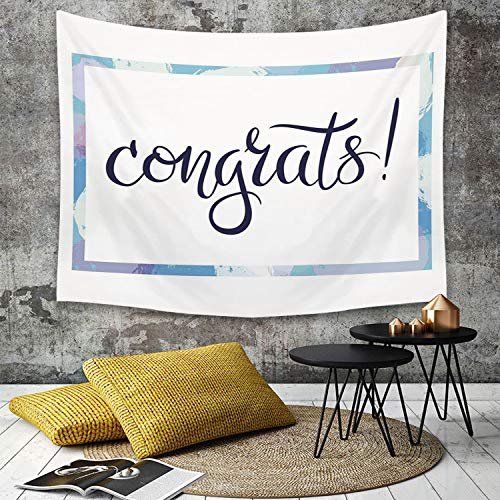 Tapestry,Hippie Tapiz,tapiz de pared con decoración para el hogar,Decoración de graduación, felicitaciones con letras a mano con frase en ,para picnic Mantel o Toalla de Playa redonda 150 x 200 cm