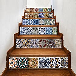 Wall Stickers Stairs Decal Home Decor DIY Steps Sticker Removable Stair Sticker Home Decor Ceramic Tiles Patterns