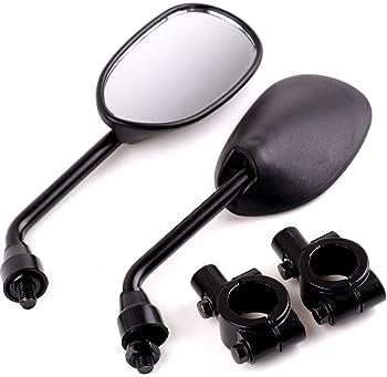 DLLL Black Retro Style Side Rearview Mirror w// 7//8 Handlebar Mount 8mm Adaptor for Mountain Bike BMX Bicycle Motorcycle Dirt Bike ATV Cruiser Chopper