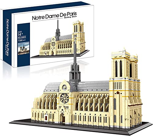 lowest Big Architecture Model Kits Notre Dame De high quality Paris Micro Blocks 7380 Pieces Model Building Kit, Creative Building Set for Adults, Gift for Any Hobbyists wholesale New( with Color Gift Package) outlet online sale
