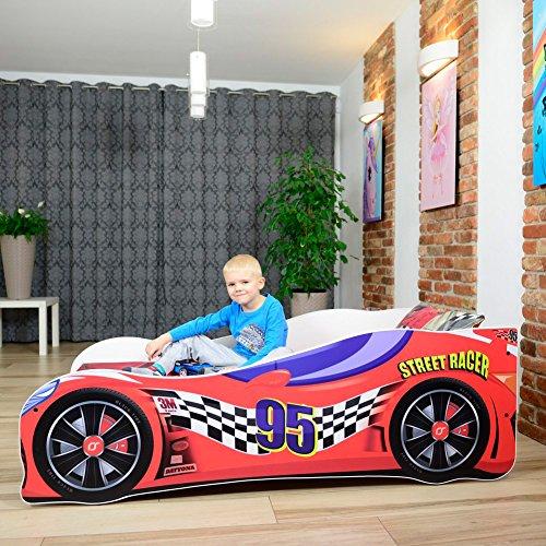Cama infantil coche de carreras + somier...