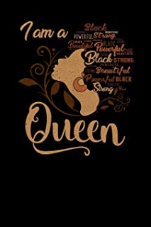 I'm a Queen Black Beautiful Powerful Strong: College Ruled Lined Paper, 120 pages, 6 x 9