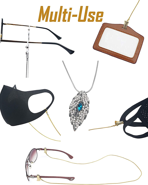 Indian handmade beaded pearl lanyard sun glass eyeglasses face mask chain Lanyard Chain Acrylic Face Mask Chain