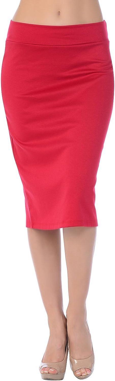 Womens Midi Mid Long Below Knee Pencil Skirt Made in USA