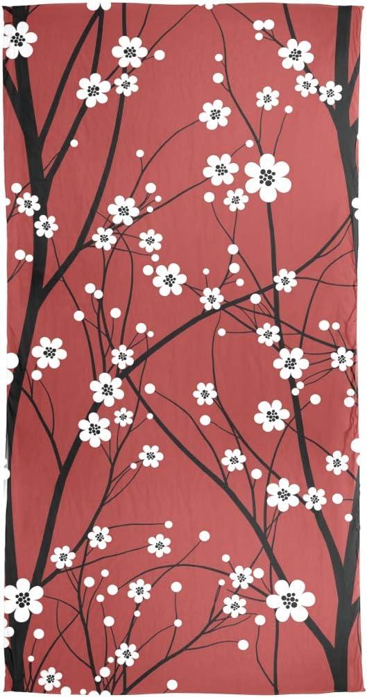 AUUXVA Fashion Scarf Cherry Blossom Tree Long Lightweight Sunscreen Scarf Shawl Wrap Muffler Neckerchief for Women Men