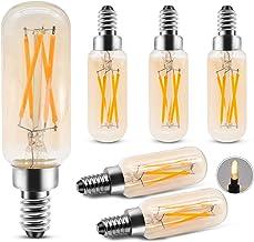 T25 LED Bulbs 4W LED Tubular Bulb, Dimmable Edison Bulb Warmt White 2700K, 40 Watt Incandescent Equivalent, E12 Medium Bas...