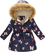 Toddler Coat,Baby Boys Girls Floral Winter Keep Warm Thick Hooded Windproof Jacket Coat