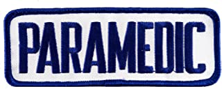 Paramedic EMT EMS Embroidered Patch Emergency Rescue Services Iron-On Ambulance