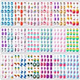 432 Pieces Kids Nails Press on Nails for Kids Mini Nails for...