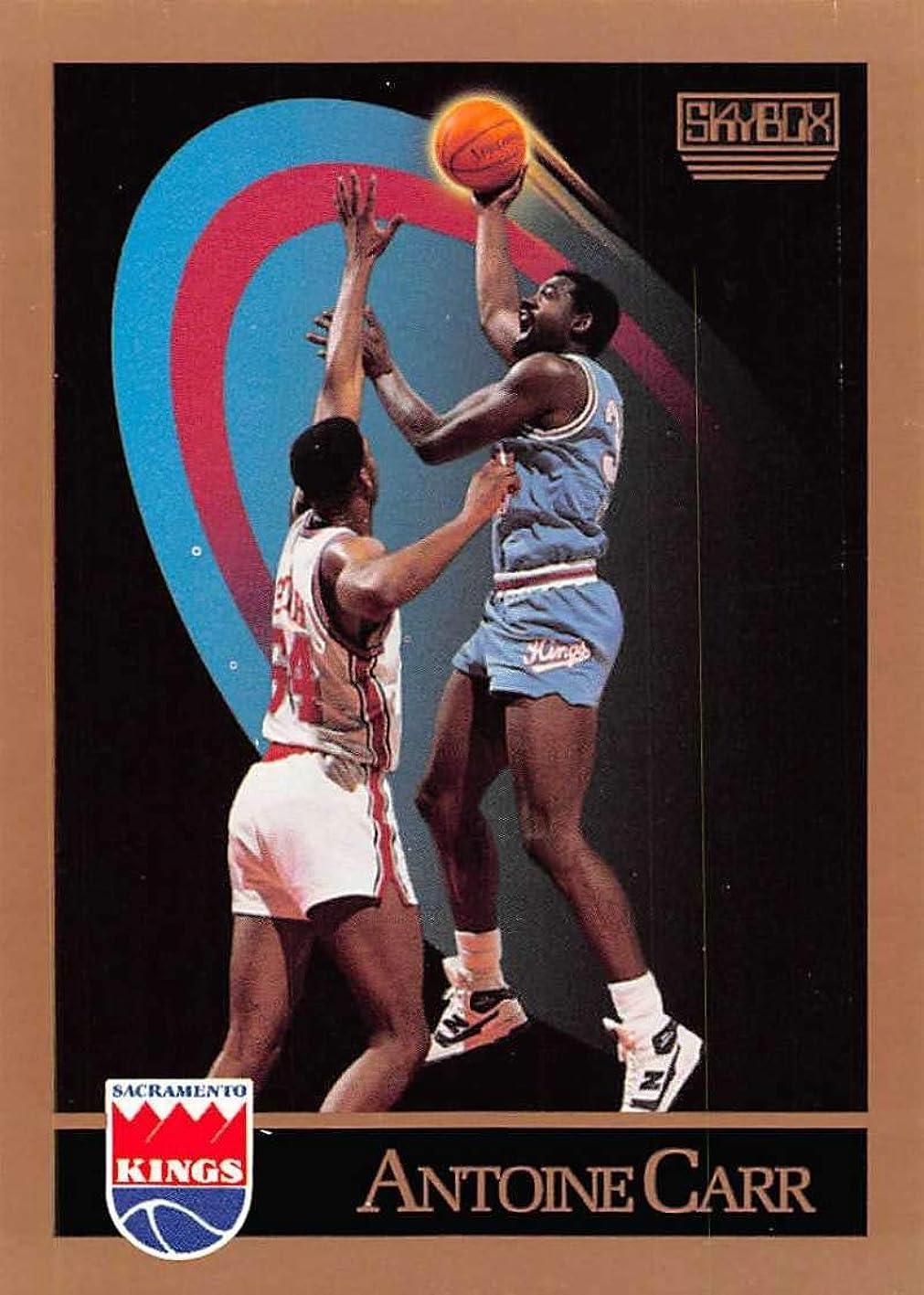 1990-91 SkyBox Basketball #244b Antoine Kings Jersey on Back Carr Sacramento Kings Official NBA Trading Card mdwdjhuwoyx549