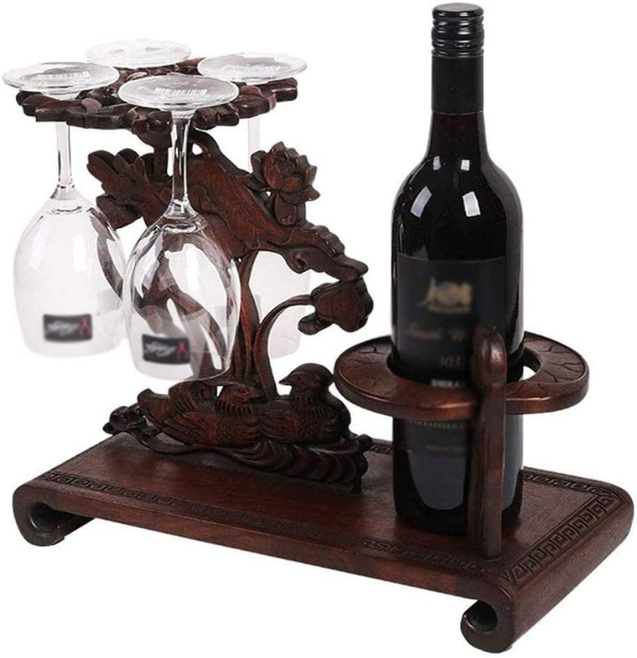 TWDYC Rosewood Wine Rack Creative for Fort Worth Mall Don't miss the campaign Glass Decoration Rac