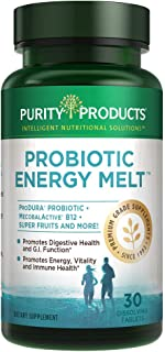 B-12 Energy Melts + Probiotics, 30 Tablets - from Purity Products