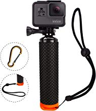 Waterproof Floating Hand Grip Compatible with GoPro Camera Hero 5 Session Black Silver Hero 7 6 5 4 3 2 1 Handler & Handle Mount Accessories Kit for Water Sport and Action Cameras (Orange)