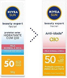 Protetor Solar Nivea Sun Beauty Expert Facial Pele Normal A Seca Fps 50 50G, Nivea