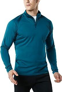 TSLA Men's 1/4 Zip Cool Dry Active Sporty Shirt MKZ02 / MKZ03