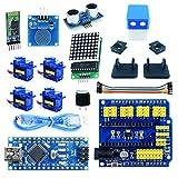 Robot Humanoïde Arduino Nano, Kit Arduino Barney Robot Pro Blue, avec Exemples de...