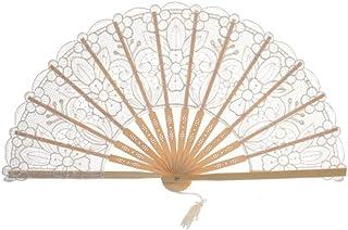 Ventilador Plegable Ventiladores de Mano de Encaje de Estilo Chino Ventilador Decorativo Plegable de bambú para Banquete de Boda Ventilador de Baile Inicio Decoración de Pared Artesanías