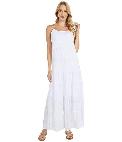 BB Dakota Roman Holiday Puckered Cotton Voile Tent Dress (Optic White) Women
