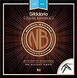 D'Addario NB1356 Nickel Bronze Acoustic Guitar Strings, Medium & NS...