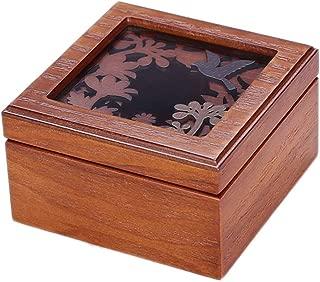 Toiletry Bags Jewelry Box Jewelry Display Box Exquisite Carved Dressing Table Jewelry Storage Box Solid Wood Portable Desktop Jewelry Box Home Item Jewelry Decoration Storage Box