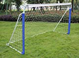KKB Sport 8ft Portable Football Goal Outdoors Garden with Rot-Proof Football Net