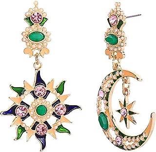 Moon Earrings for women Girls Moon and Star Earrings Jewelry Fashion Long Drop Dangle Stud