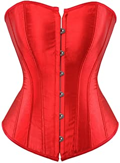 4585f6638ee Women s Bustier Corset Top Sexy Lingerie Sets Black Satin Waist Cincher