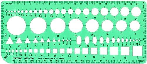 製図 建築士試験用組み合わせテンプレート定規003-010