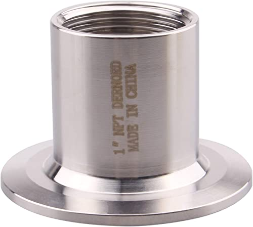 """DERNORD Sanitary Female Threaded Pipe Fitting to 2 Inch TRI CLAMP OD 64mm Ferrule (Pipe Size: 1"""" NPT (2 Inch Tri clamp))"""