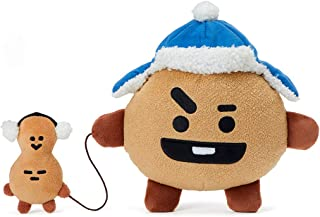 BT21 Official Merchandise with Line Friends - SHOOKY Character Winter Standing Plush Toy Doll 8 inches