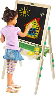 Crayola Deluxe Kids Wooden Art Easel & Supplies, Amazon Exclusive,  Kids, Ages 3, 4, 5, 6