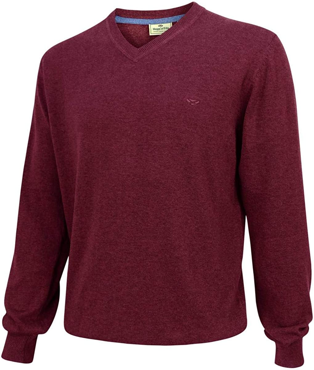 Hoggs of Fife Stirling LS Pullover Burgundy