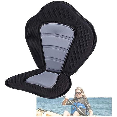 canoa imbottito Sedile per kayak con schienale staccabile sedile per canoa regolabile schienale alto rafting Qdreclod deriva sedile imbottito per kayak resistente