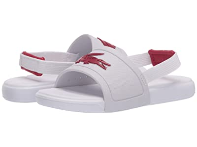 Lacoste Kids L.30 Slide 120 1 CUI (Toddler) (White/Dark Pink) Girl