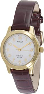 Timex Women's Quartz Watch, Analog Display and Leather Strap T21693