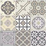 Ambiance-Live Azulejos hidráulicos Adhesivos para Pared–Azulejos–10x 10cm–9Piezas