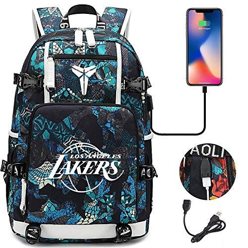 Zaino Nba Basket Superstar Fans , kobe Bryant , Zaino da viaggio per il tempo libero con porta di ricarica USB Medium Colorful-3