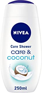 NIVEA Care & Coconut Shower Gel, Jojoba Oil, Coconut Scent, 250ml