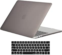 ProCase MacBook Pro 13 Case 2019 2018 2017 2016 Release A2159 A1989 A1706 A1708, Hard Case Shell Cover and Keyboard Skin Cover for Apple MacBook Pro 13 Inch with/Without Touch Bar and Touch ID -Gray