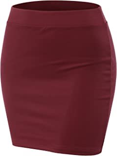 Stretch Knit Bodycon Mini Skirt for Women with Plus Size