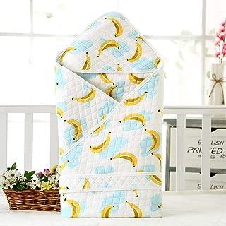 Neutral Swaddle Blanket Baby Sleeping Bag Newborn Quilt Cotton Warm Cartoon 襁褓 6-18 Months@Banana Child Comfort Quilt