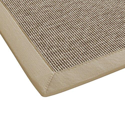 BODENMEISTER Sisal-Optik In- und Outdoor-Teppich Flachgewebe modern hochwertige Bordüre, verschiedene Farben und Größen, Variante: beige braun natur, 67x133